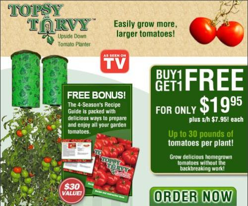 Official Topsy Turvy® As Seen on TV Affiliate Program