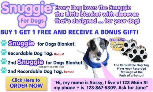 Snuggie for Dogs Affiliate Program