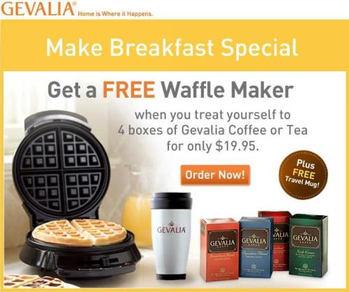 Gevalia free Waffle Maker Affiliate Program